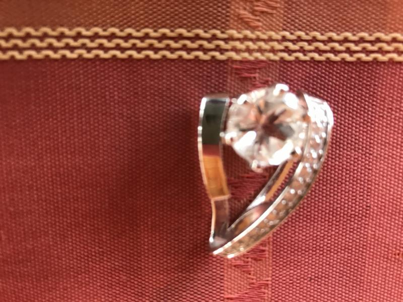 Mason County topaz in antique setting.