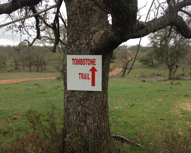Sign to Tombstone Trail